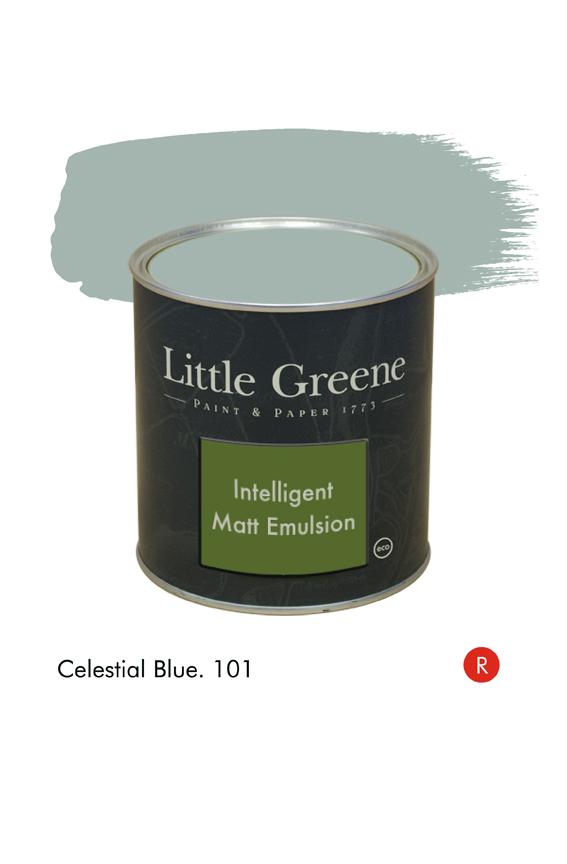 Celestial Blue (Regency) n°101. Peinture Intelligent Matt Emulsion Little Greene