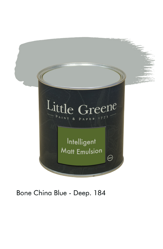 Bone China Blue Deep n°184. Peinture Intelligent Matt Emulsion Little Greene