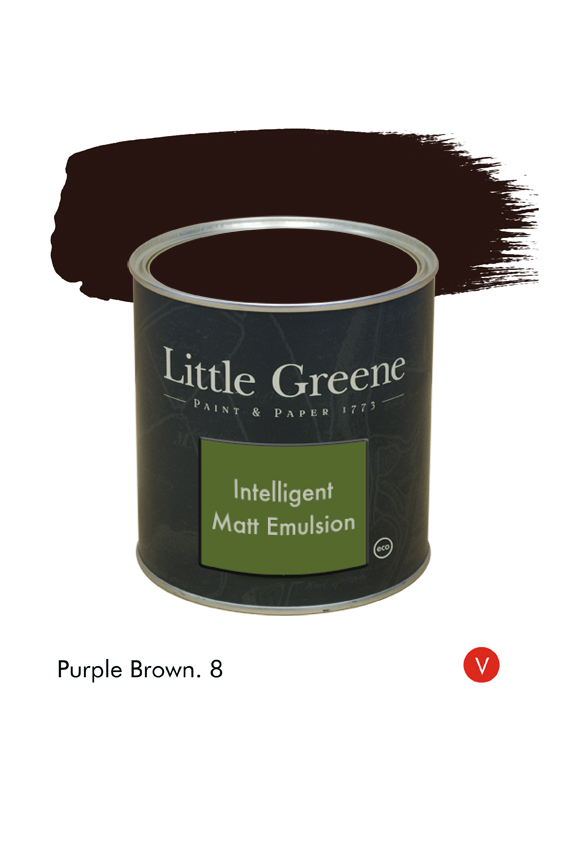 Purple Brown (Victorian) n°8. Peinture Intelligent Matt Emulsion Little Greene