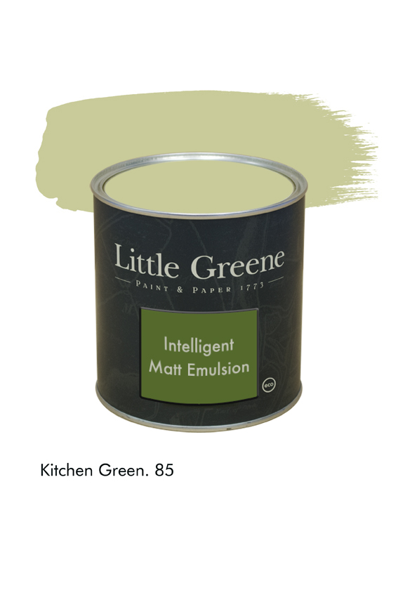 Kitchen Green n°85. Peinture Intelligent Matt Emulsion Little Greene