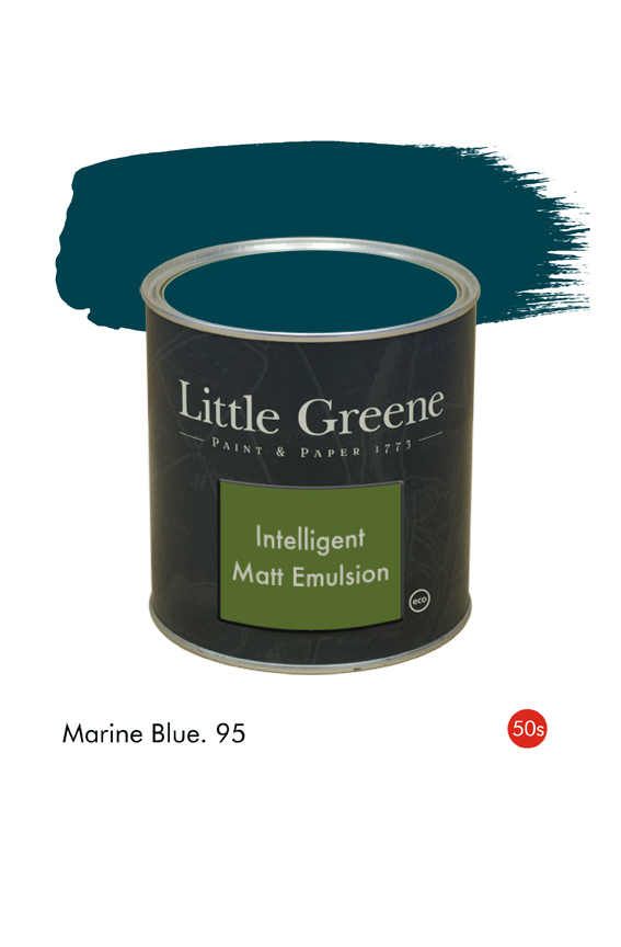 Marine Blue (1950s) n°95. Peinture Intelligent Matt Emulsion Little Greene