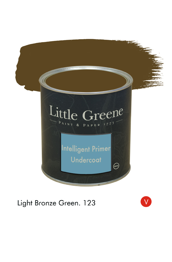 Light Bronze Green (Victorian) n°123. Sous-couche Intelligent Primer Undercoat Little Greene