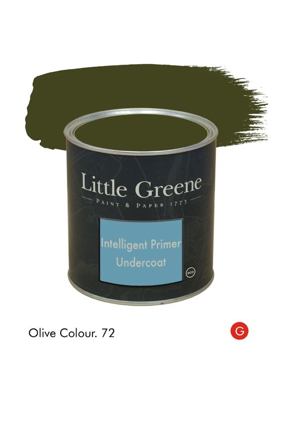 Olive Colour (Georgian) n°72. Sous-couche Intelligent Primer Undercoat Little Greene