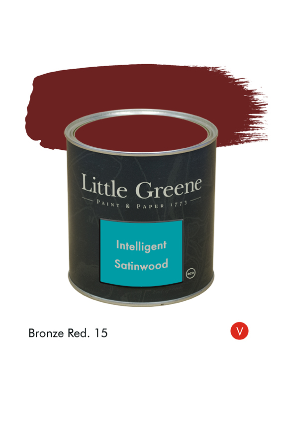 Peinture Intelligent Satinwood Bronze Red n°15 - Peinture Little Greene