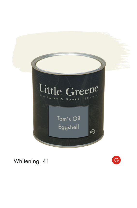 Whitening (Georgian) n°41. Peinture Tom's Oil Eggshell Little Greene