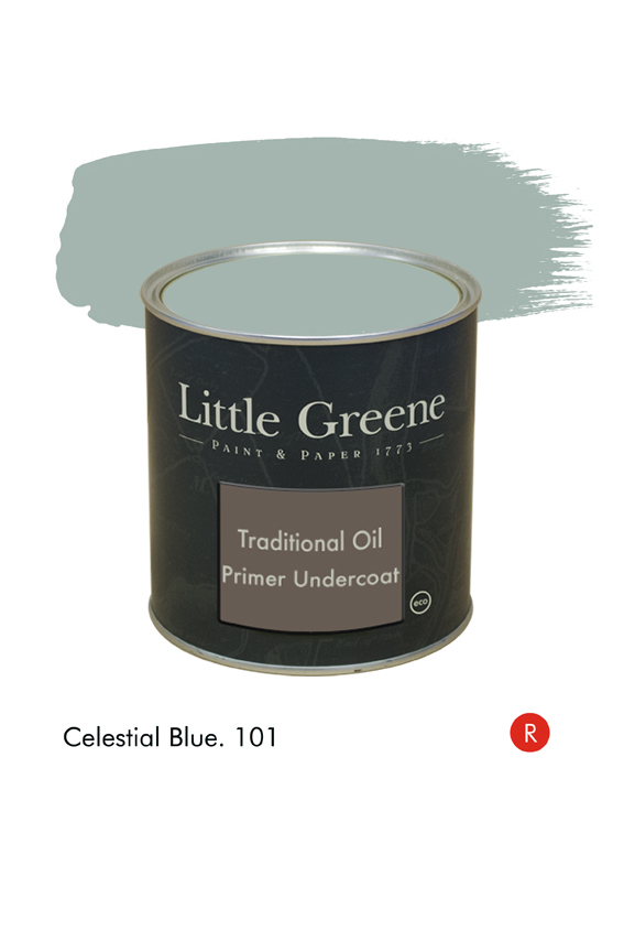 Celestial Blue (Regency) n°101. Sous-couche Traditional Oil Primer Undercoat Little Greene