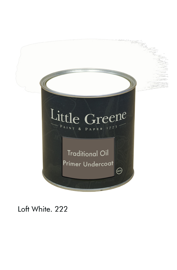 Loft White n°222. Sous-couche Traditional Oil Primer Undercoat Little Greene