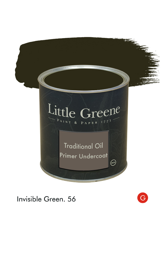 Invisible Green (Georgian) n°56. Sous-couche Traditional Oil Primer Undercoat Little Greene