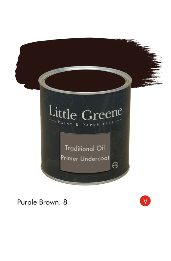 Purple Brown (Victorian) n°8. Sous-couche Traditional Oil Primer Undercoat Little Greene