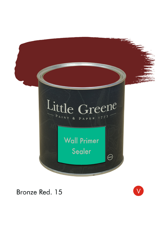 Bronze Red (Victorian) n°15. Sous-couche Wall Primer Sealer Little Greene