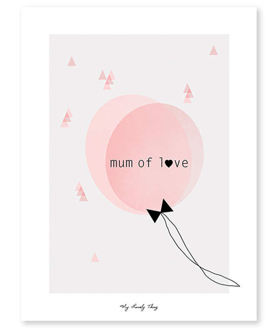 Mum of love - Affiche décorative de Lilipinso