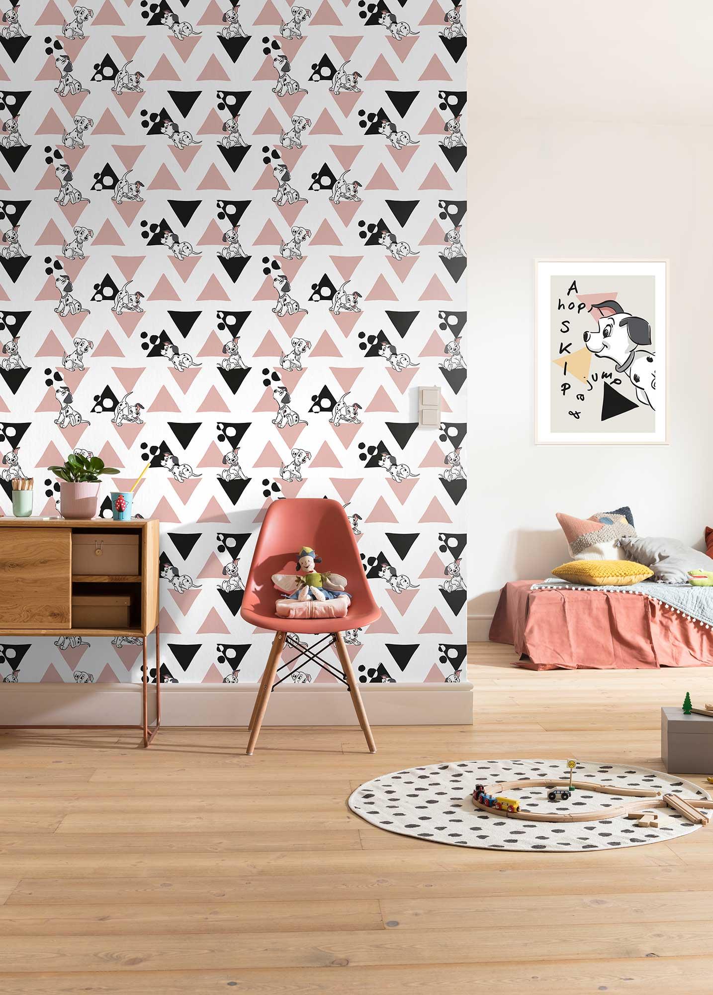 Papier peint enfant Disney 101 Dalmatiner Angles - Papier peint panoramique Komar AMB