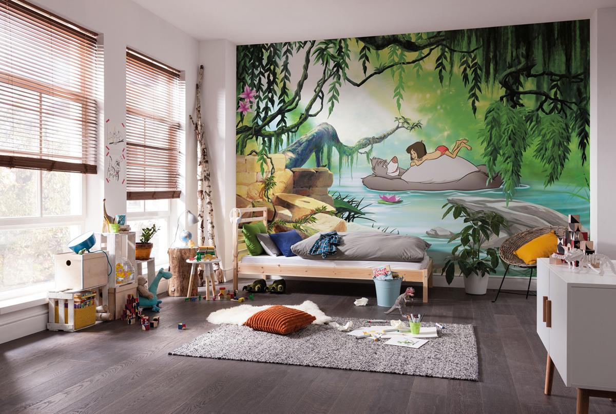 Deco Jungle Chambre Enfant papier peint enfant disney le livre de la jungle swimming