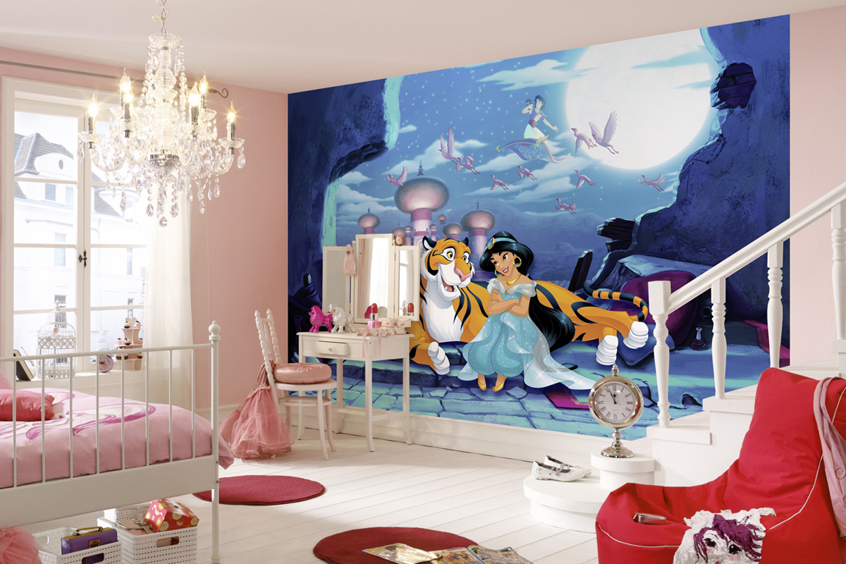 Papier peint enfant Disney Jasmine Waiting for Aladdin - Papier peint Panoramique AMB Komar