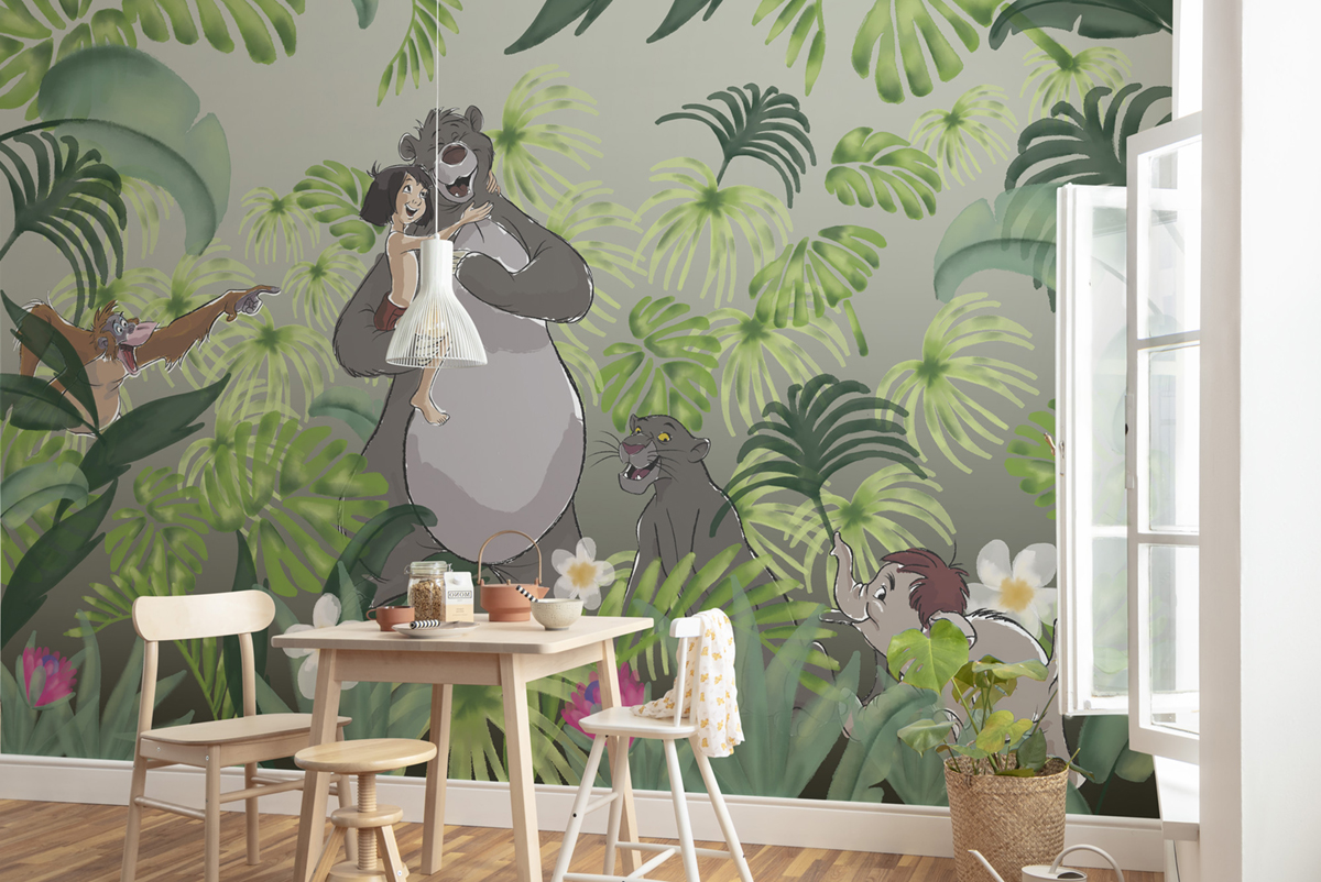 Deco Jungle Chambre Enfant papier peint enfant disney livre de la jungle welcome to the