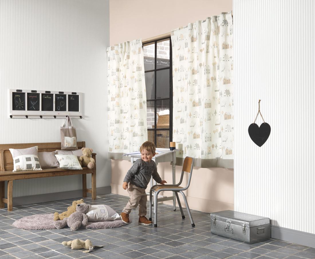Papier Peint A Rayure Gris Et Blanc papier peint enfant rayures gris - happy dreams de casadéco