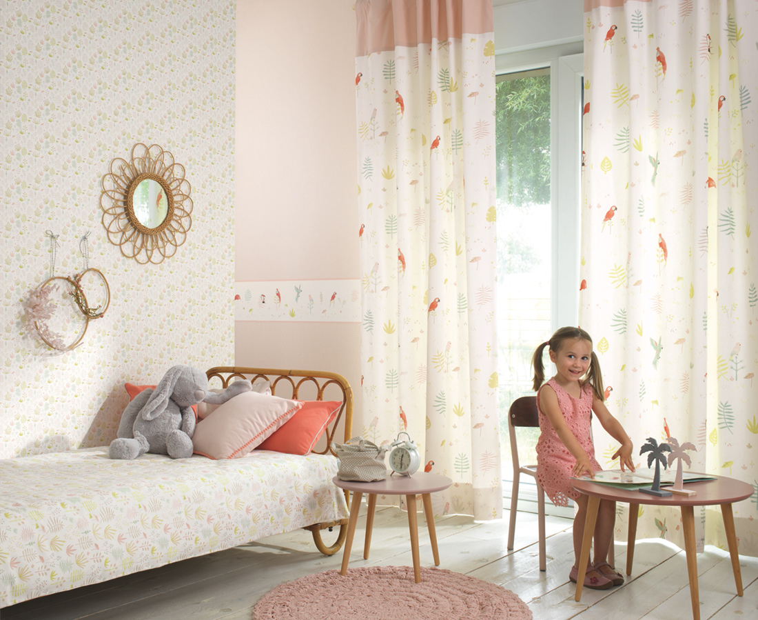 Frise enfant Tropical rose - Happy Dreams de Casadéco AMB | Réf. HPDM82873235