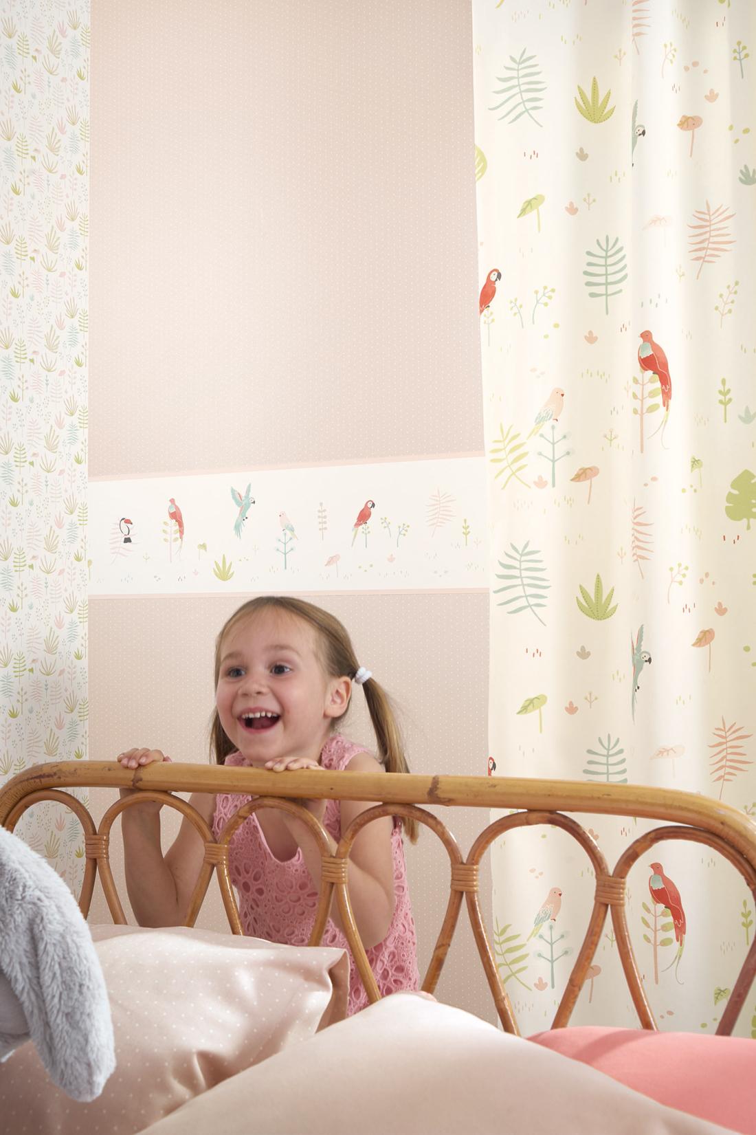 Frise enfant Tropical rose - Happy Dreams de Casadéco AMB 2 | Réf. HPDM82873235