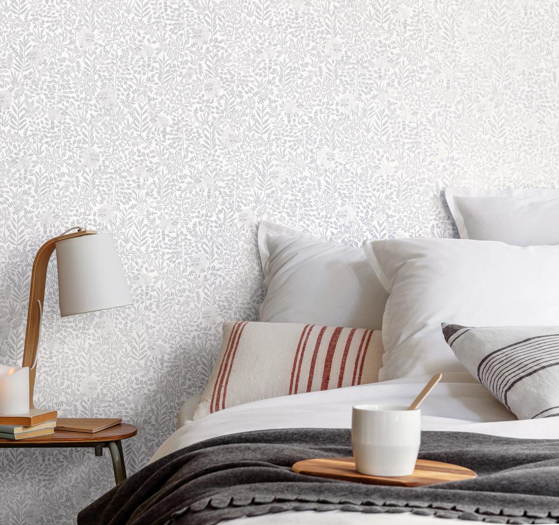 Papier peint raton laveur Free Spirit gris - Hygge de Casélio AMB   HYG100549100