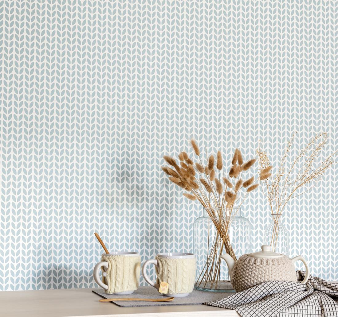 Papier peint graphique Simplicity bleu ciel - Hygge de Casélio AMB   HYG100557100