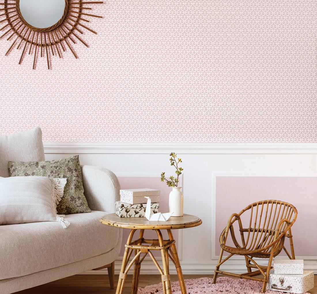 Papier peint Uni rose poudré - Hygge de Casélio AMB | HYG100604822