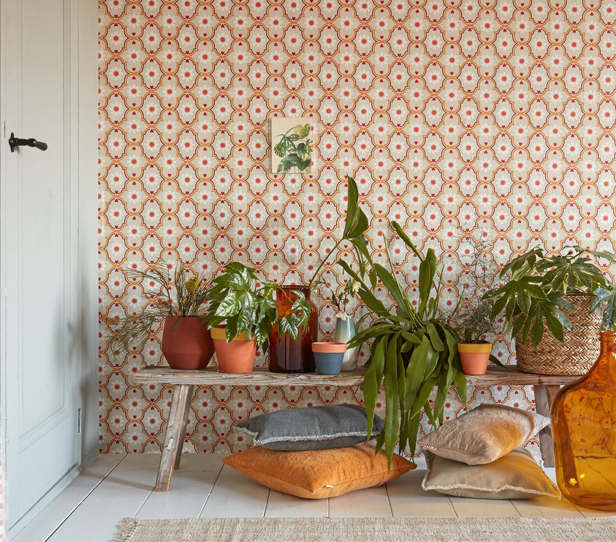 Papier peint Médaillon orange - It's Time to Dance d'AS Création AMB 3 | Réf. SP04563