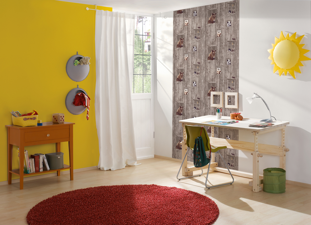 Papier peint uni jaune poussin - Little Stars AS Création | Réf. SP04352 Amb