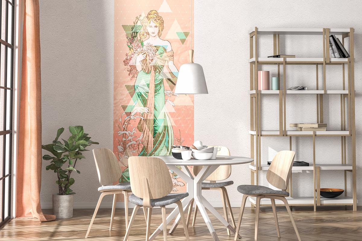Papier peint panoramique Printemps - Papier peint Komar Heritage AMB