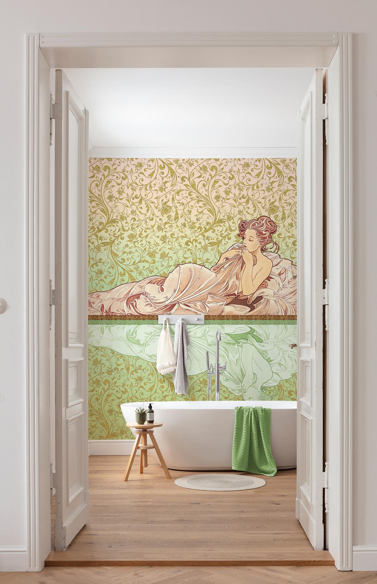 Papier peint panoramique rétro Réflexion - Papier peint Komar Heritage AMB