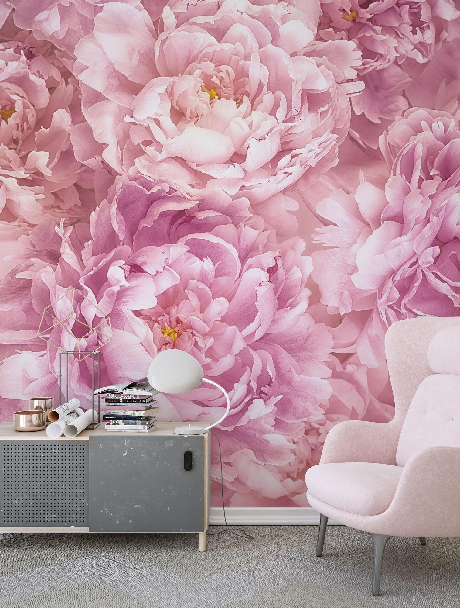 Papier peint panoramique fleurs Soave - Papier peint Komar AMB