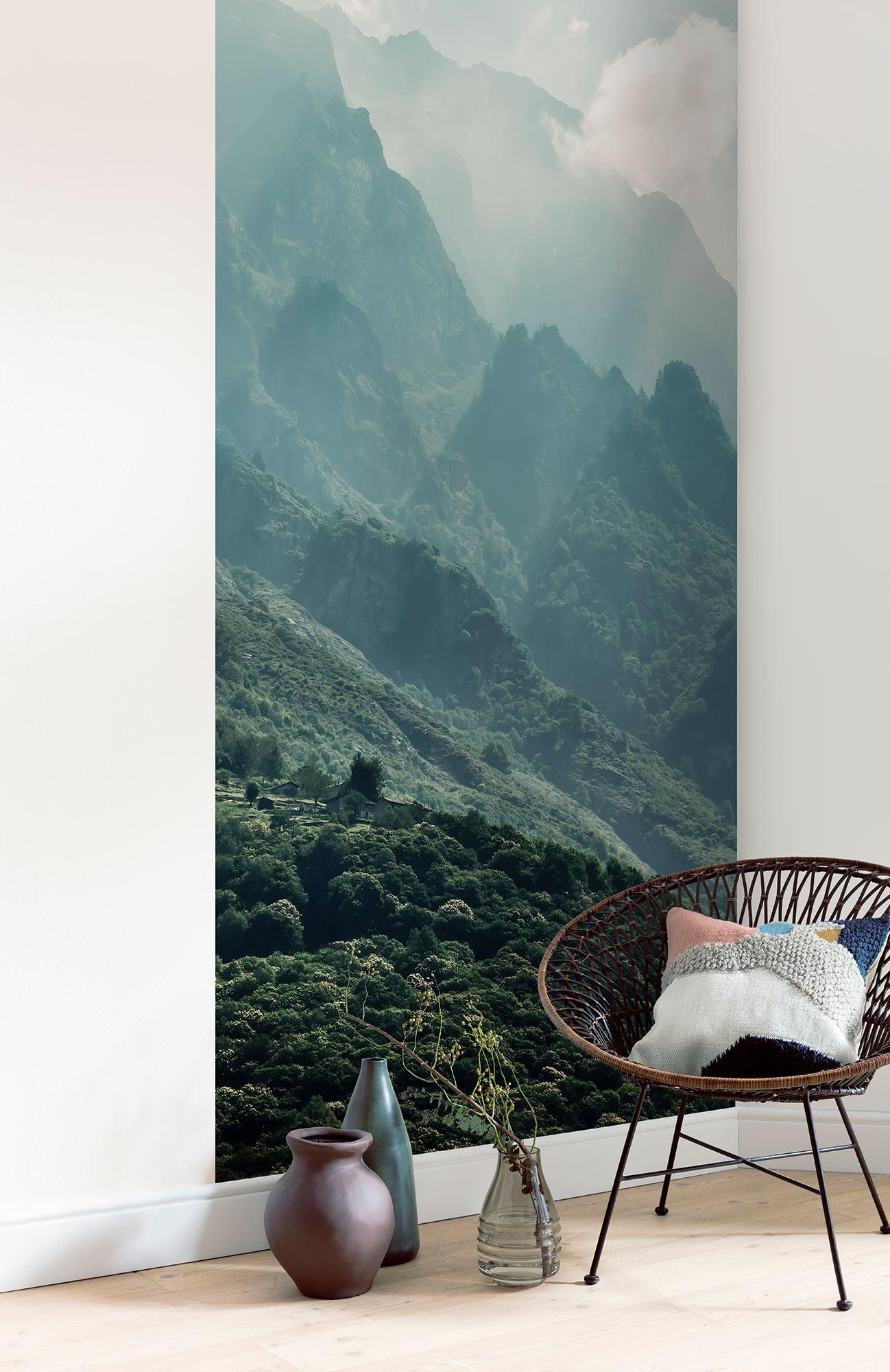 Papier Peint Panoramique Paysage papier peint paysage the summit panel - papier peint lé