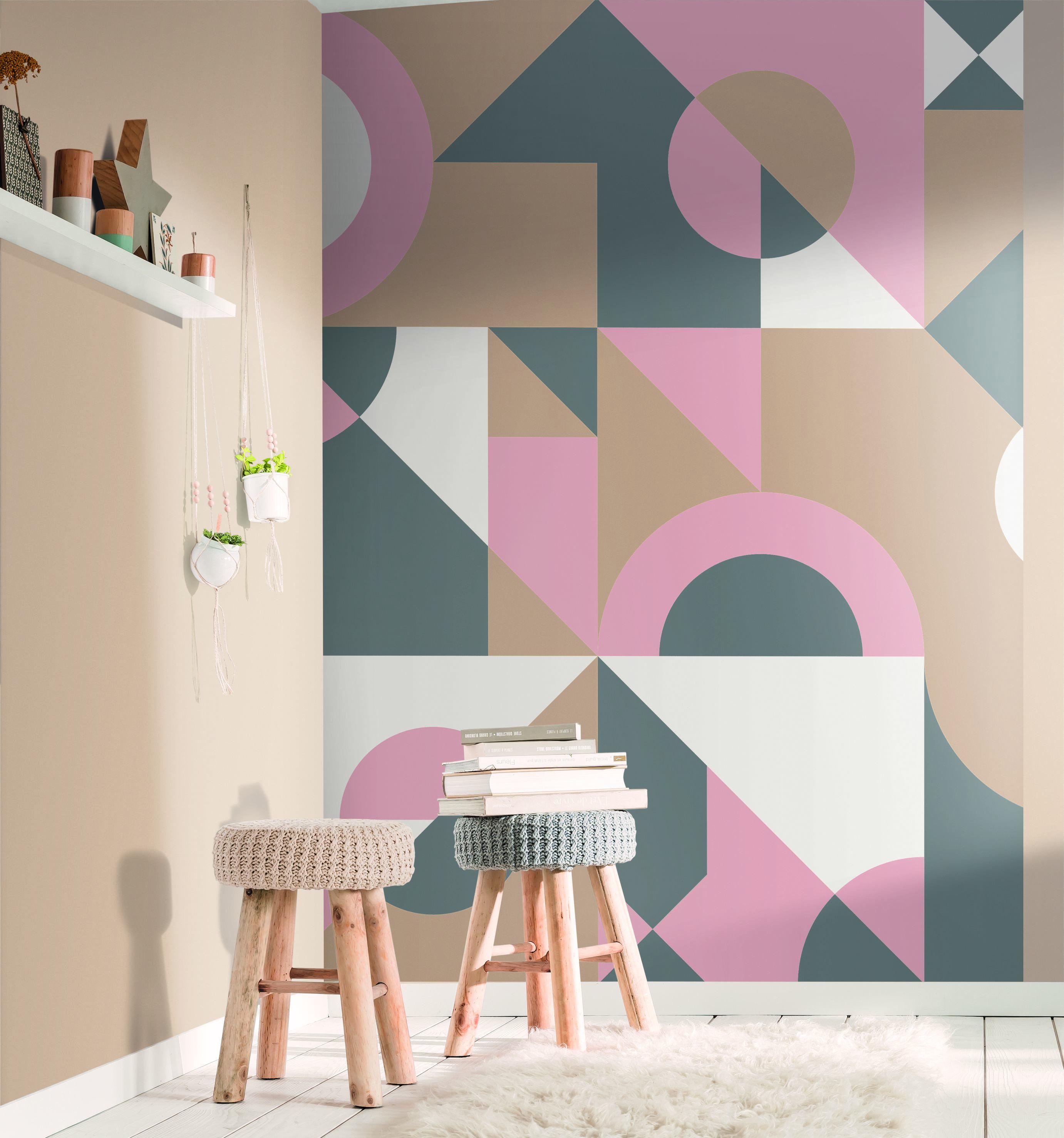 Amb Panoramique Cubisme rose - Spaces de Casélio   Réf. SPA100169014