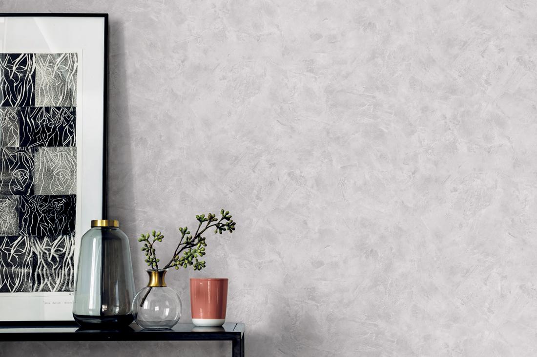 Amb Papier peint Effet béton gris clair - Patine de Casélio   Réf. PAI100229128