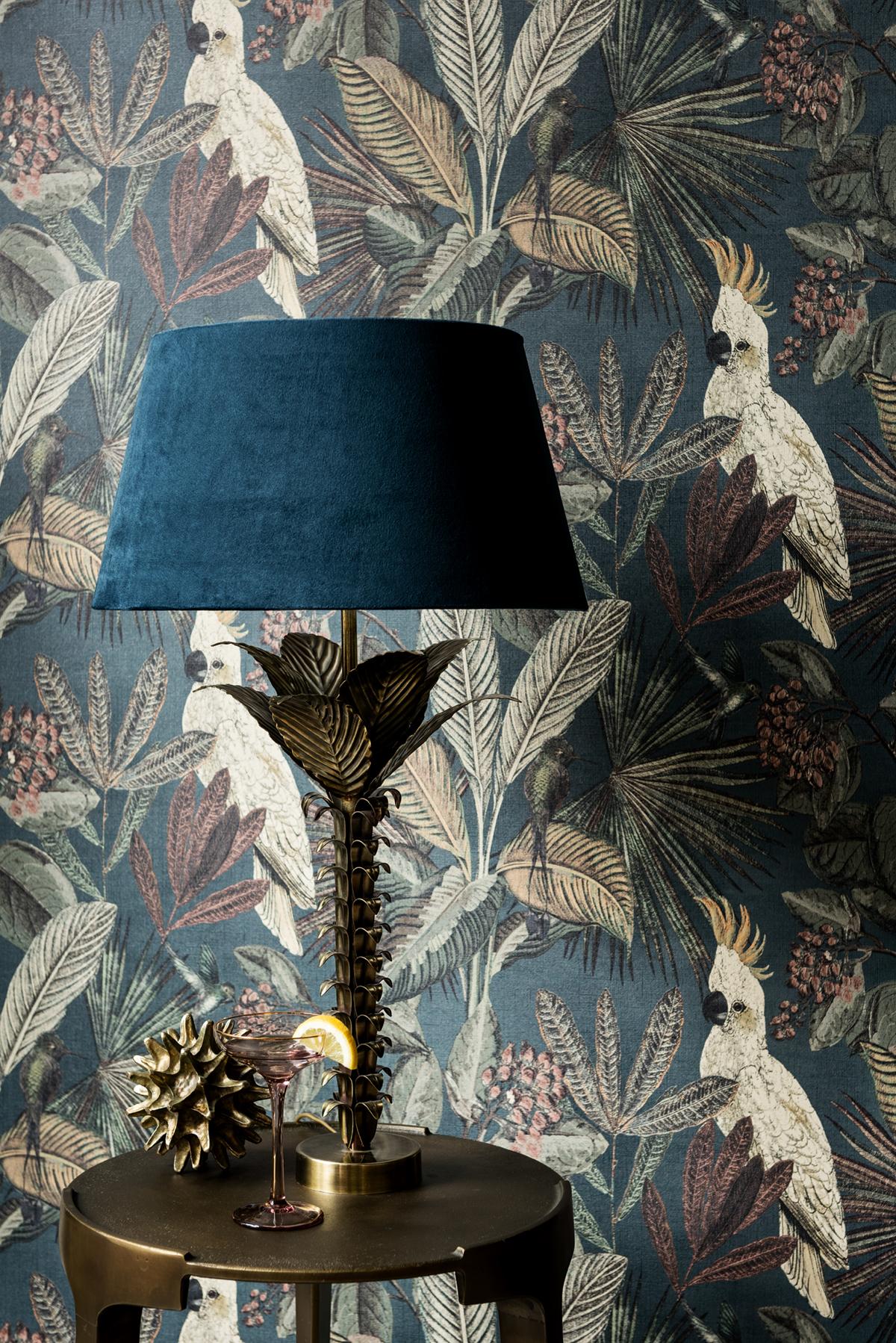 Papier peint Oiseaux tropicaux canard - Savana de Lutèce AMB | Réf. LTC-SAV124