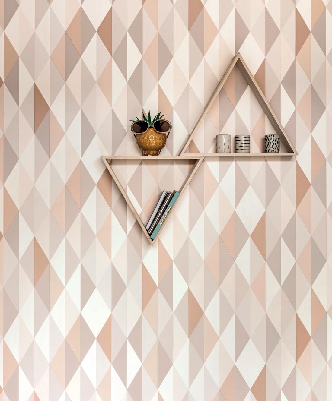 Amb Papier peint Diamond gris beige - Spaces de Casélio | Réf. SPA100081015