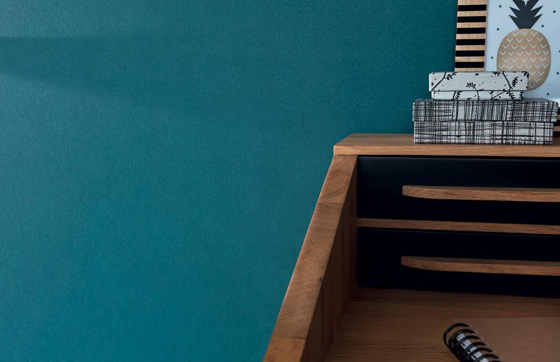 Amb 1 Papier peint Uni bleu canard - Spaces de Casélio   Réf. SPA64526060