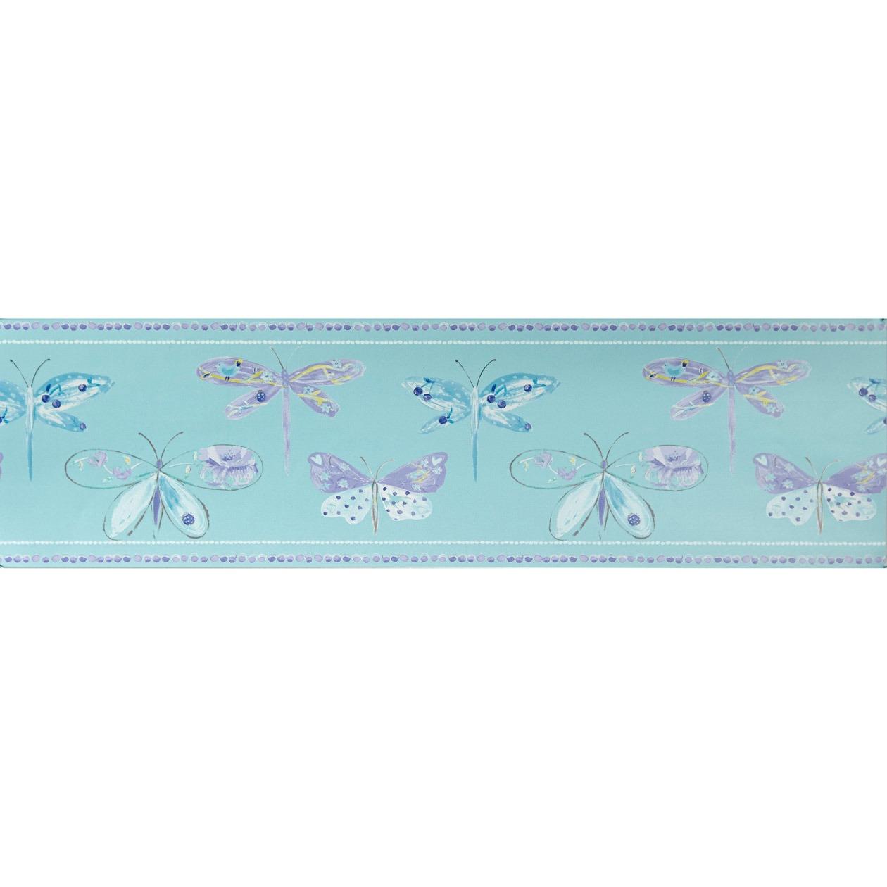 Frise Libellule bleue - Papier peint Ohlala de Casélio