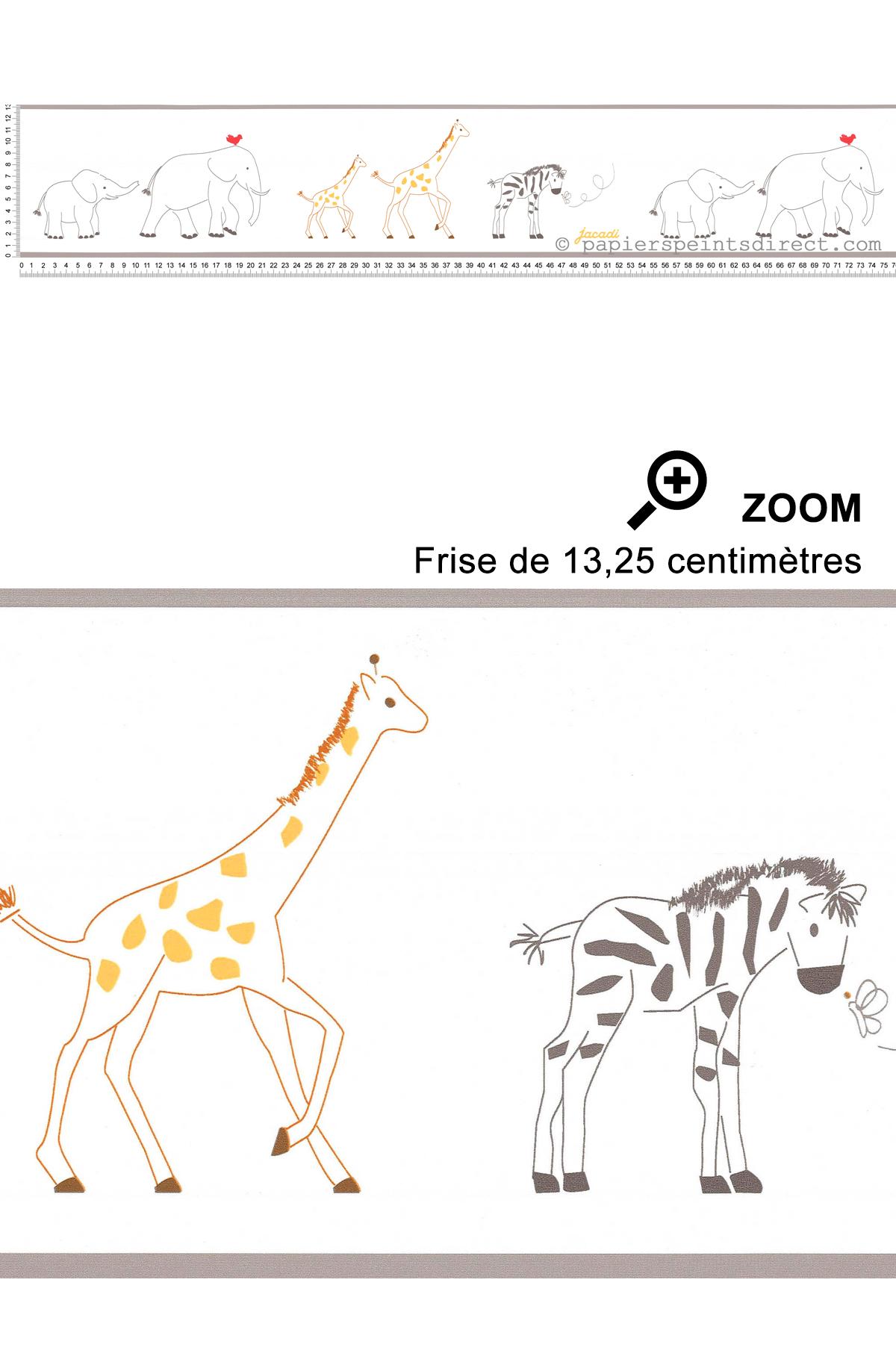 Frise animaux du zoo - Collection Jacadi de Lutèce