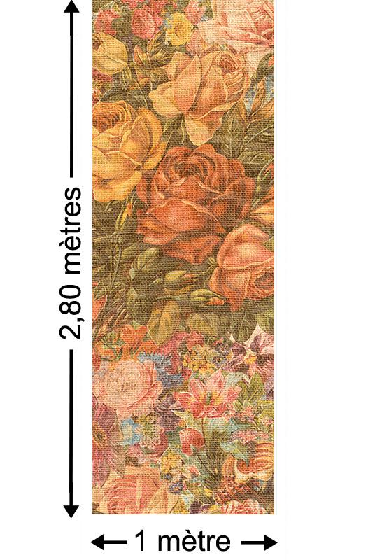 Romantic Flower - Papier peint lé unique
