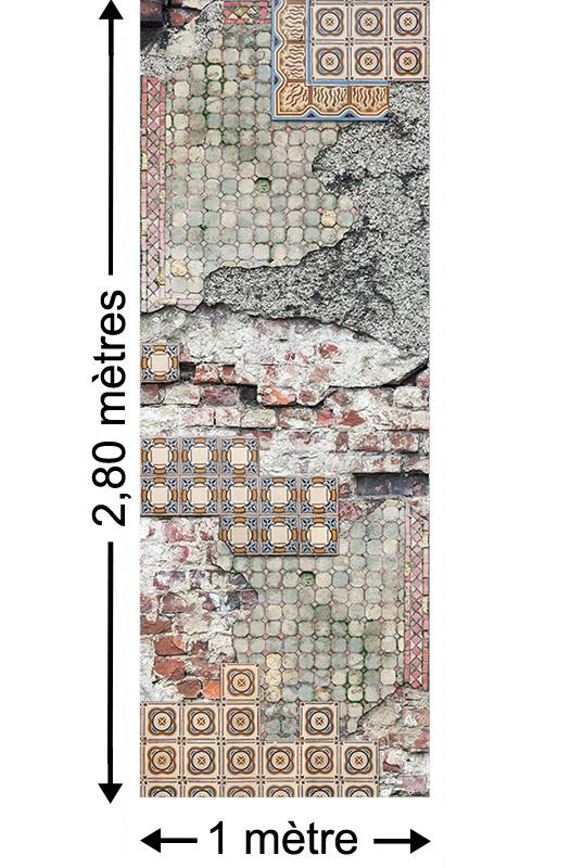 Vintage Tiles - Papier peint lé unique