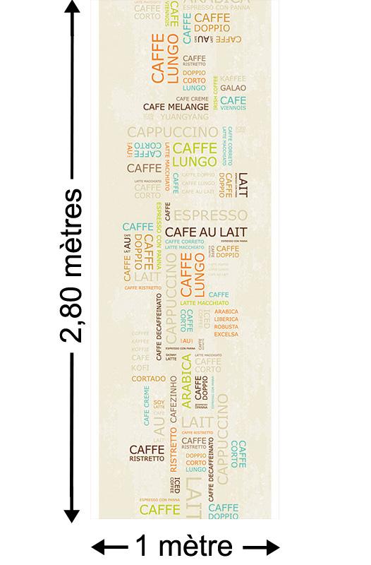 Coffee Time - Papier peint lé unique