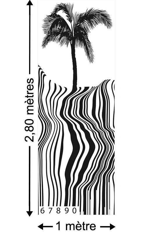 Barcode Beach - Papier peint lé unique