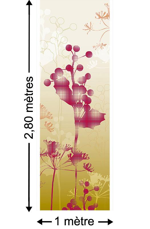 Mystic blossoms, Jaune - Papier peint lé unique