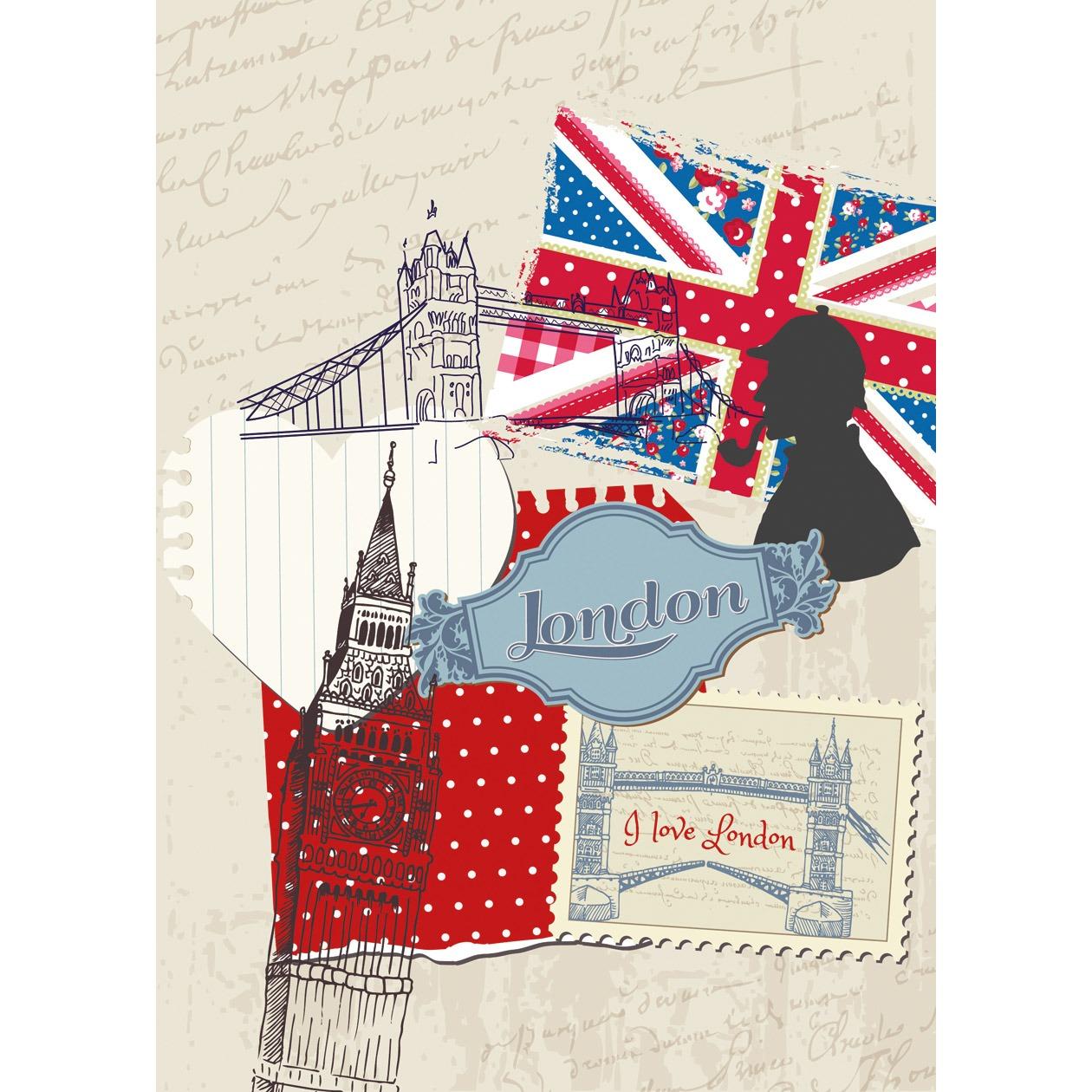 Panoramique My London - Papier peint Ohlala de Casélio