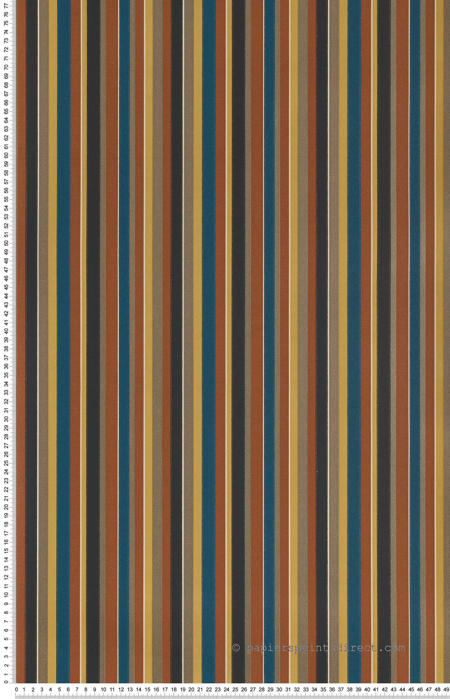 Tailor stripe multicolore - Painted Papers de Little Greene