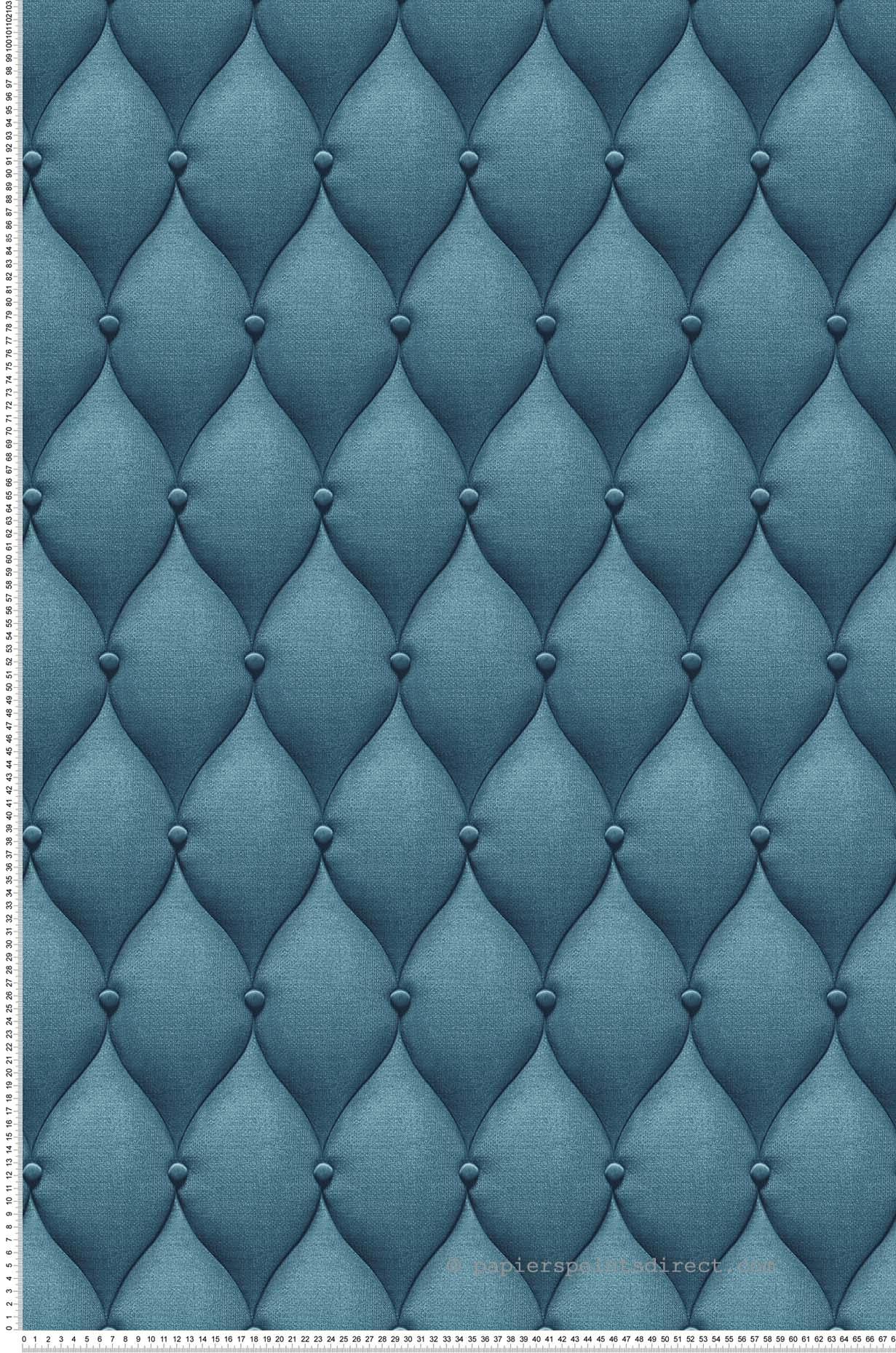 Papier Peint Capitonné Gris papier peint capitons bleus - 3d wall de lutèce | réf. ltc