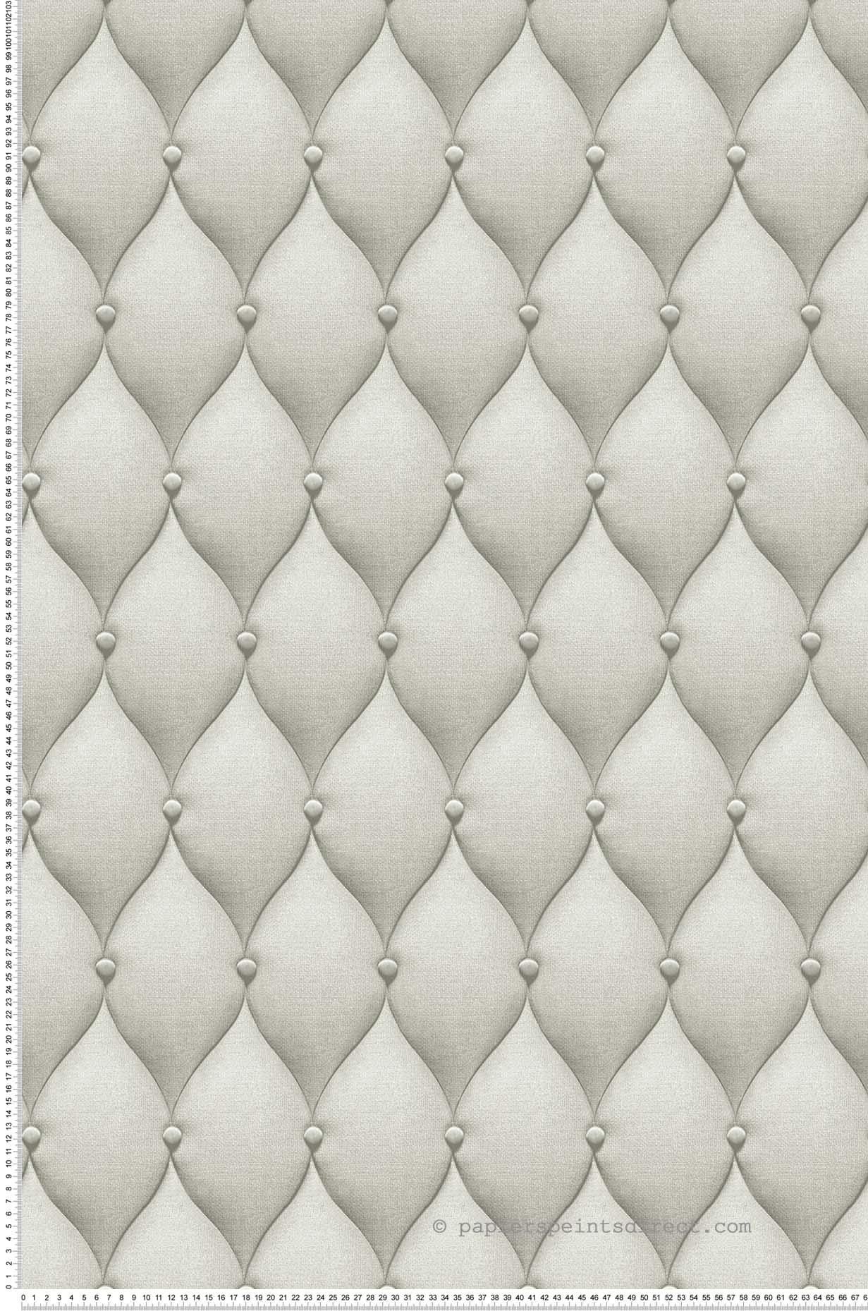 Papier Peint Capitonné Gris papier peint capitons gris - 3d wall de lutèce | réf. ltc