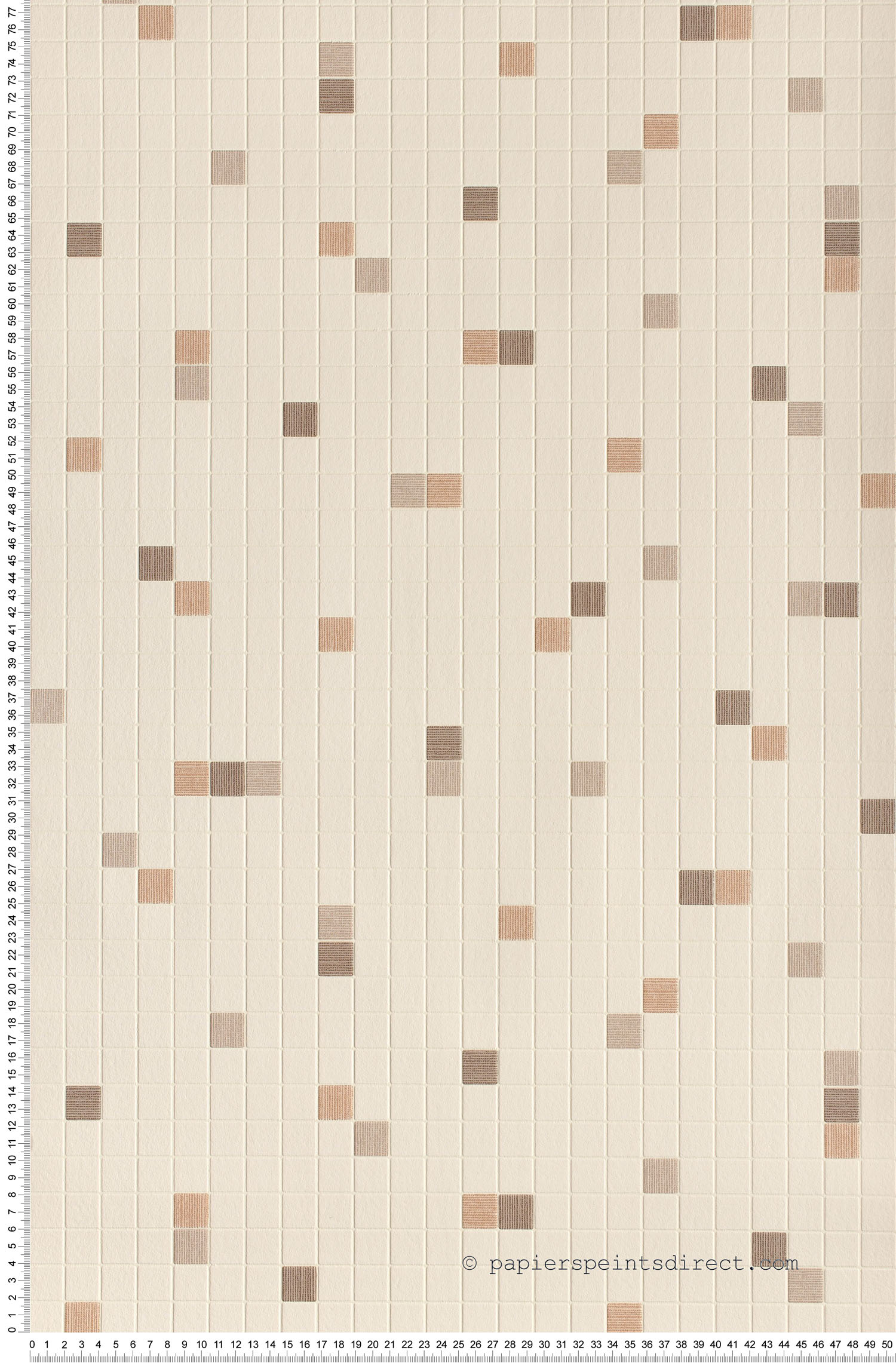 Papier peint Petits carreaux rosés - Dekora Natur et Simply Decor AS Création | Réf. SP03952