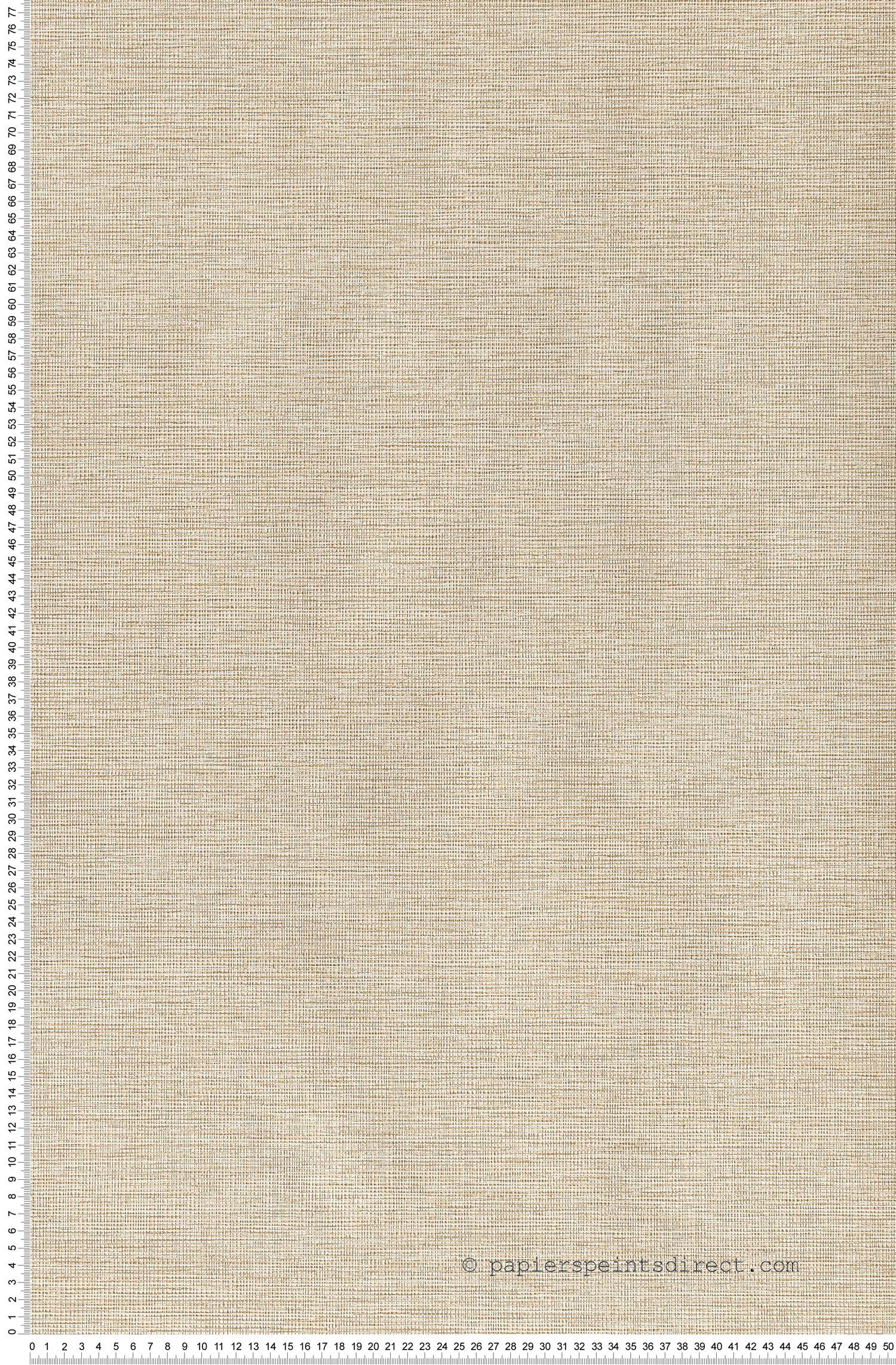 Tissé beige - Papier peint Dekora Natur d'AS Création