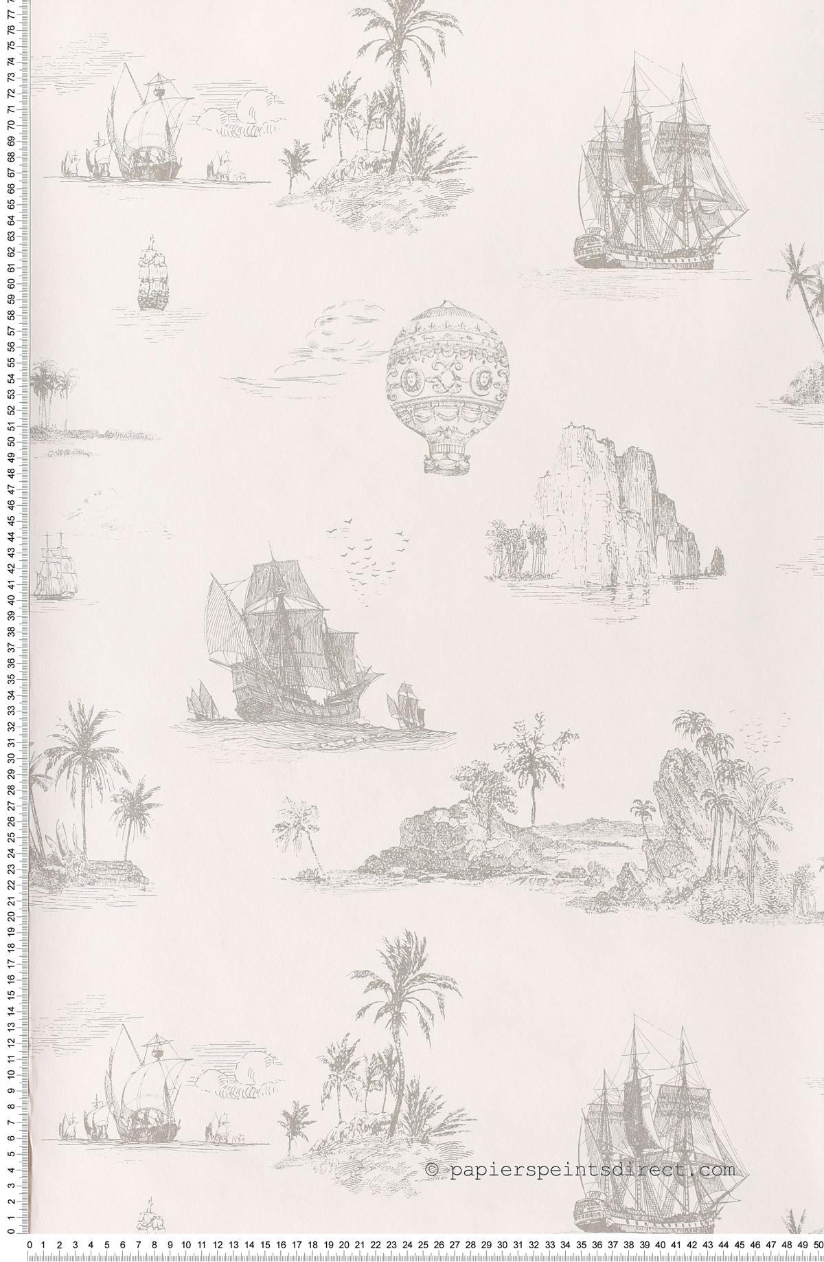 Grandes découvertes Chantilly - papier peint Casadéco